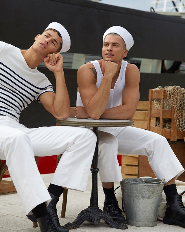 Tyler Maher and Brandon Good for Jean Paul Gaultier: Le Male Le Parfum
