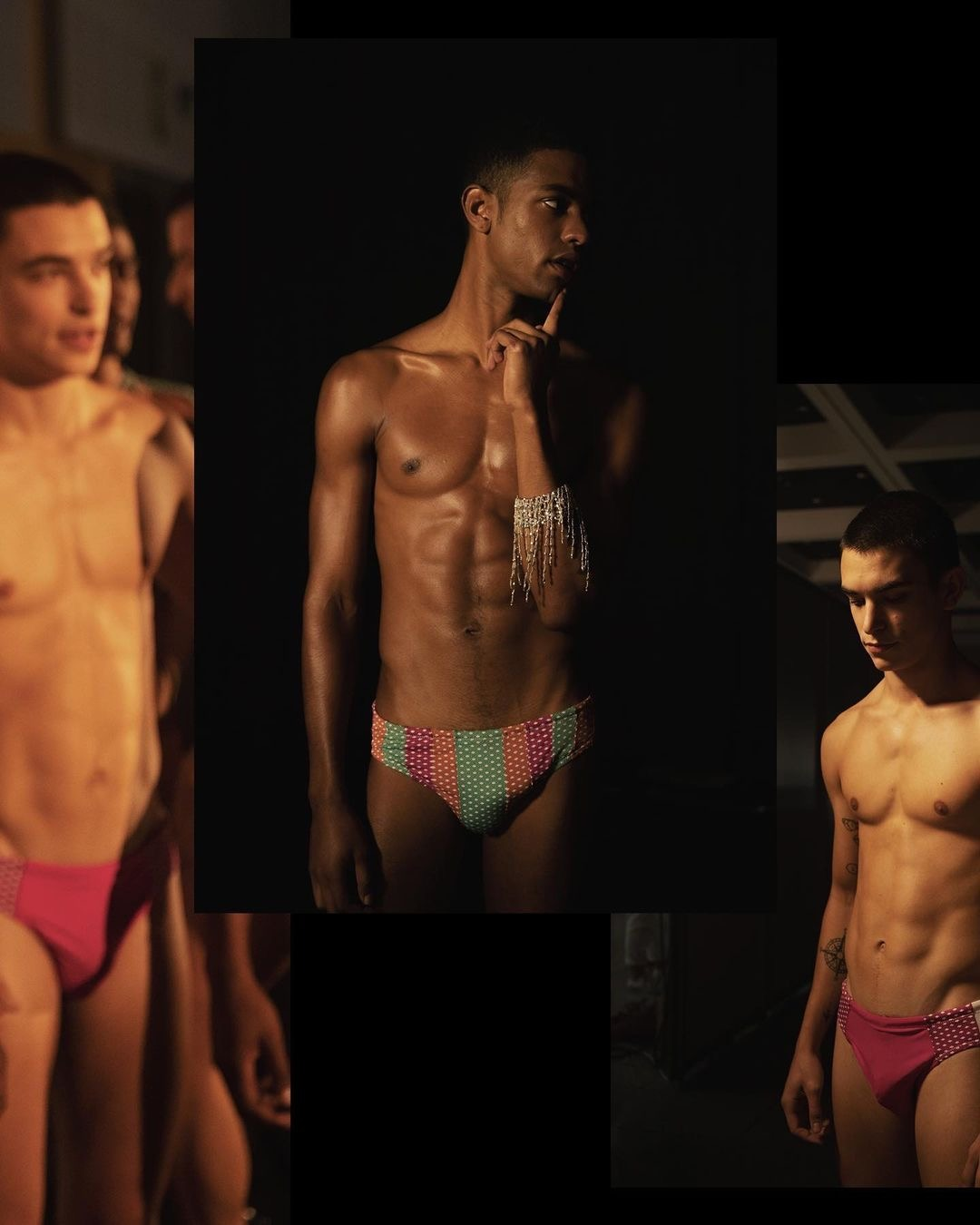 Simone Bricchi & Toni Engonga by Gerard Estadella – Backstage at Gran Canaria Swim Week (S/S 2021)