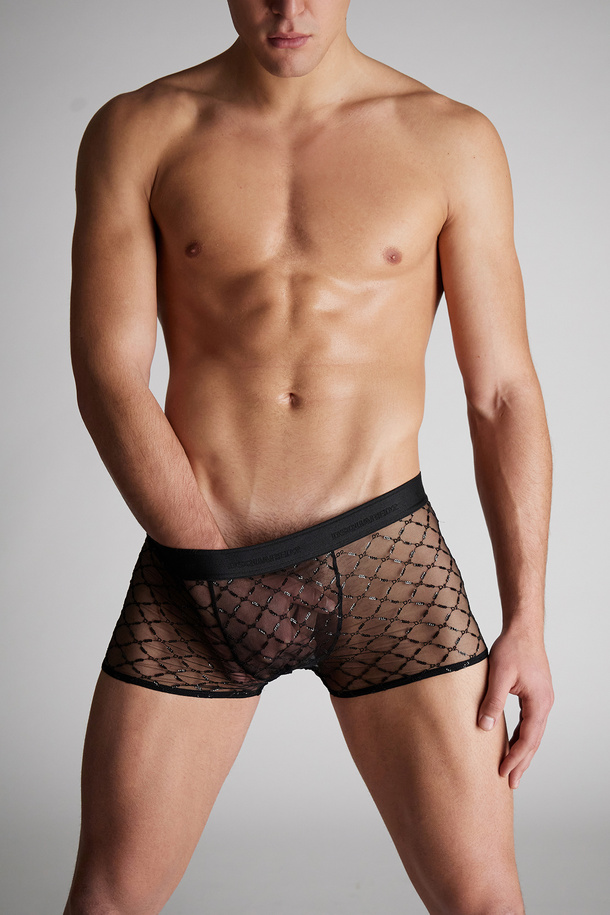 Dsquared2 Launches Valentine's Day Exclusive Online Underwear Sheer D2 Sequin Trunks