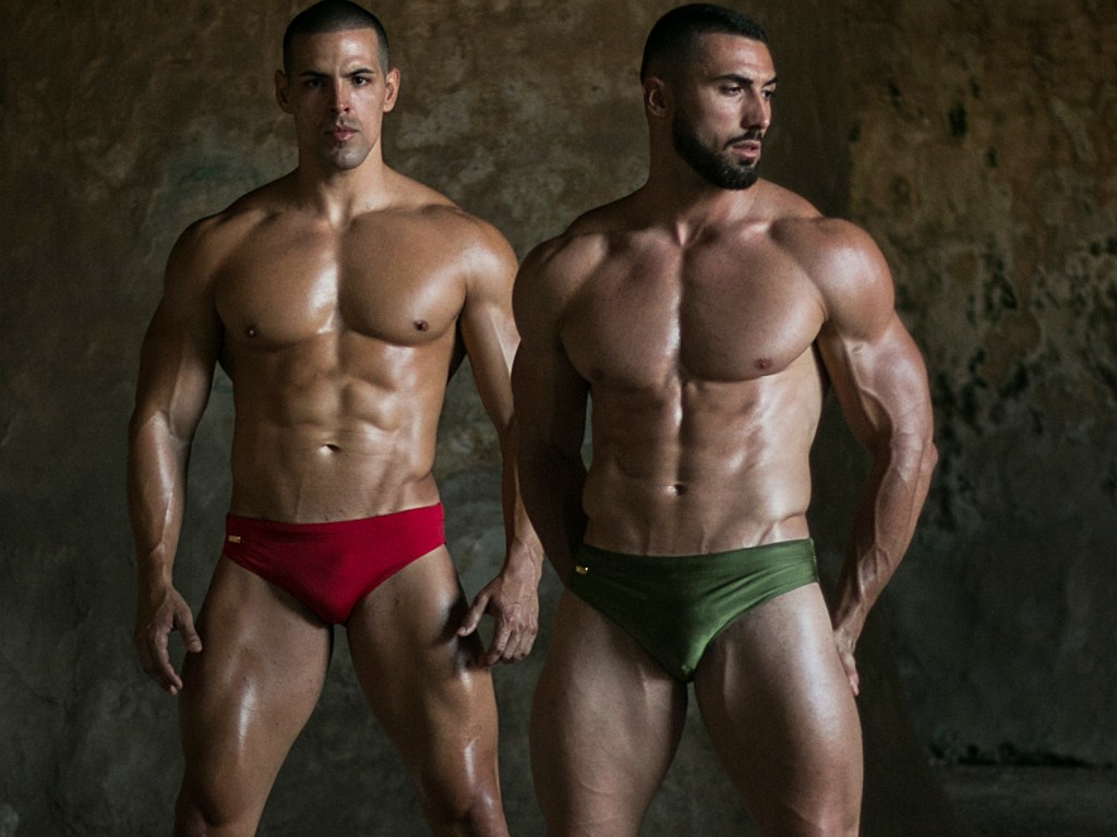 Models Drazen and Fabian are wearing swimwear by WAPO Wear cover