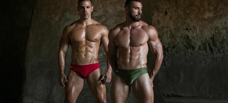 Models Drazen and Fabian are wearing swimwear by WAPO Wear cover
