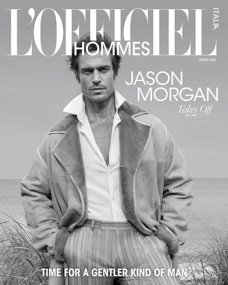 Jason Morgan by Greg Lotus for L'Officiel Hommes Italia Spring 2021 Editorial