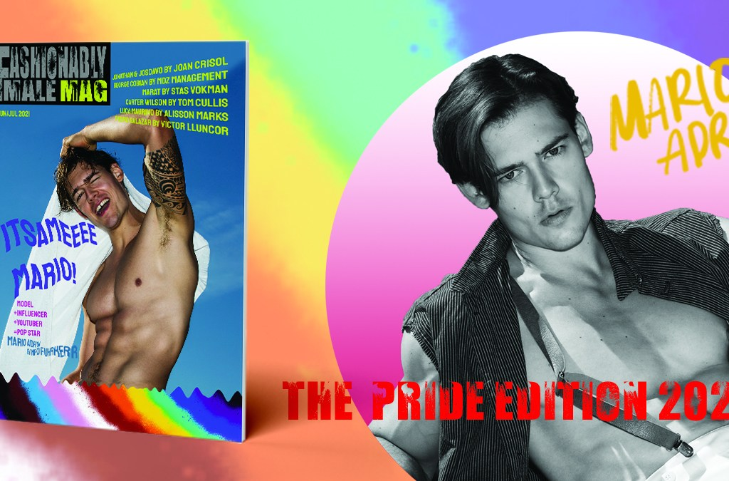 Mario Adrion for Fashionably Male Magazine Pride Edition 2021 cover