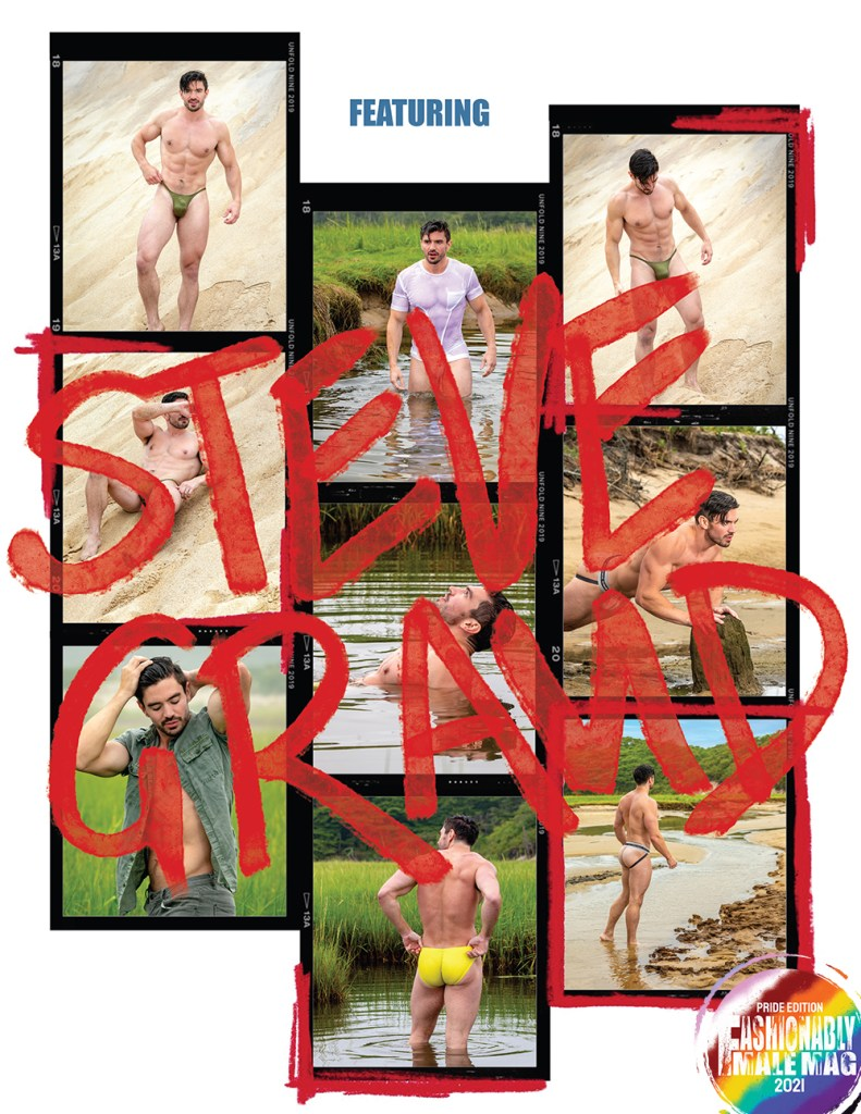 Steve Grand for Fashionably Male Pride Edition 2021 cover