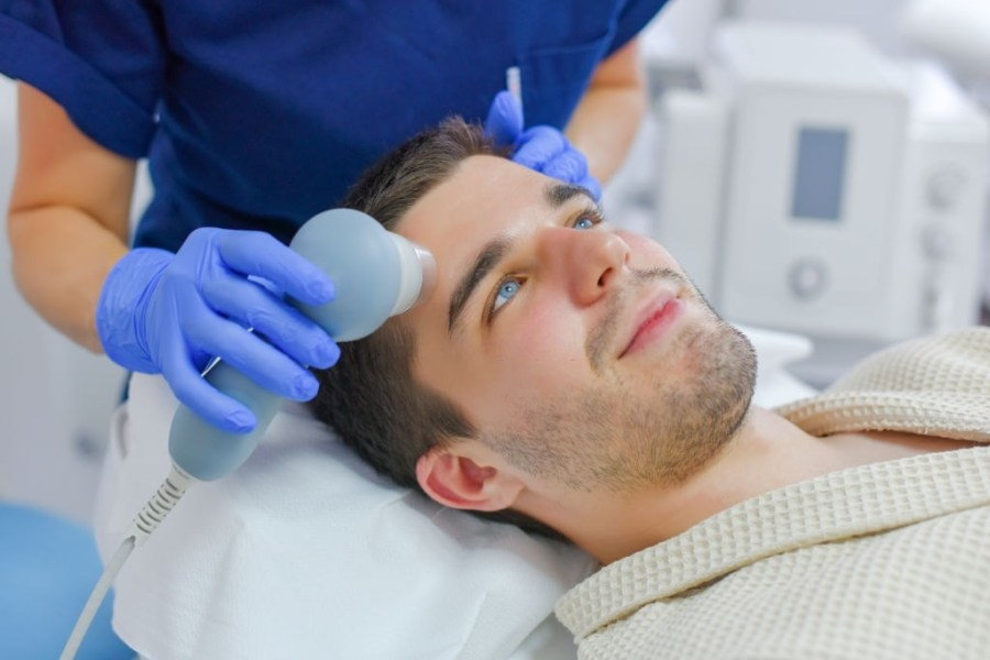 Microdermabrasion for Men: Everything You Need To Know  Anti-aging treatment, face therapy, man on tretment