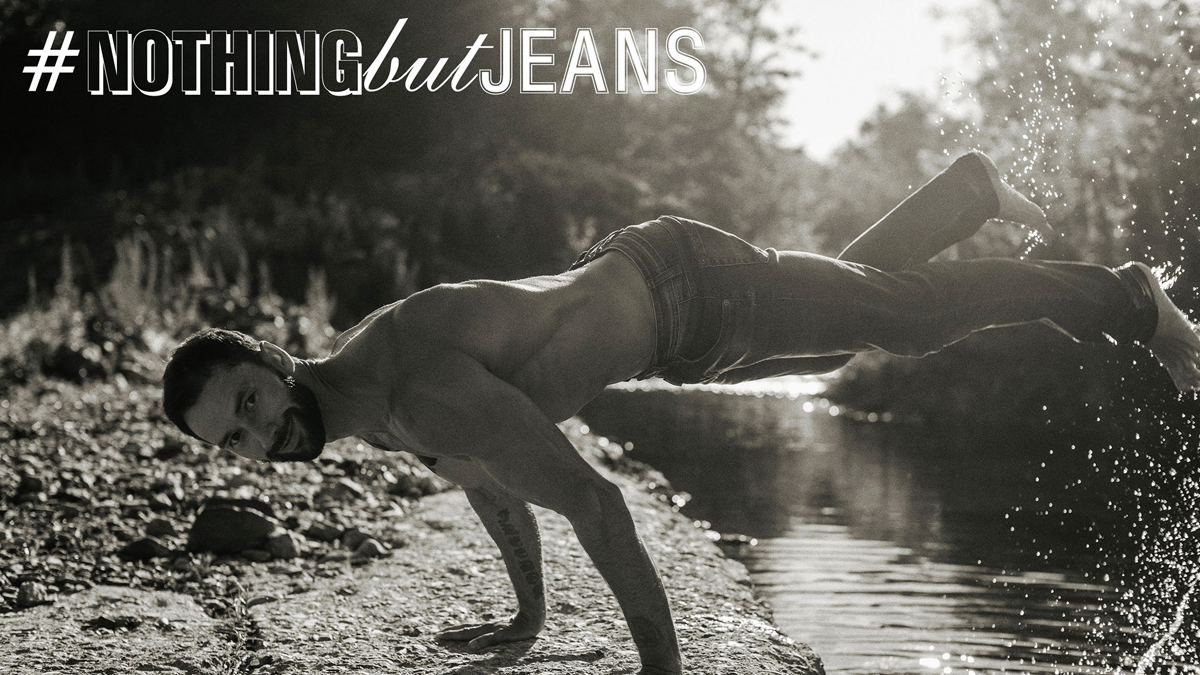 It's Mikhail Fomin in #NothingButJeans by Serge Lee cover