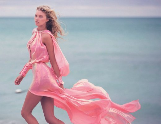 Elsa Hosk, Pink, Pretty, Valentine's Day, Romance, Beauty, Angel