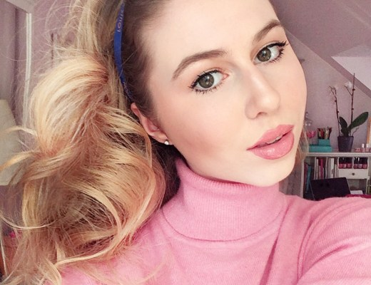 annie robinson, fabincblog, pink makeup, charlotte tilbury, blonde hair, makeup look, girly makeup, pink and glow makeup, makeup ideas