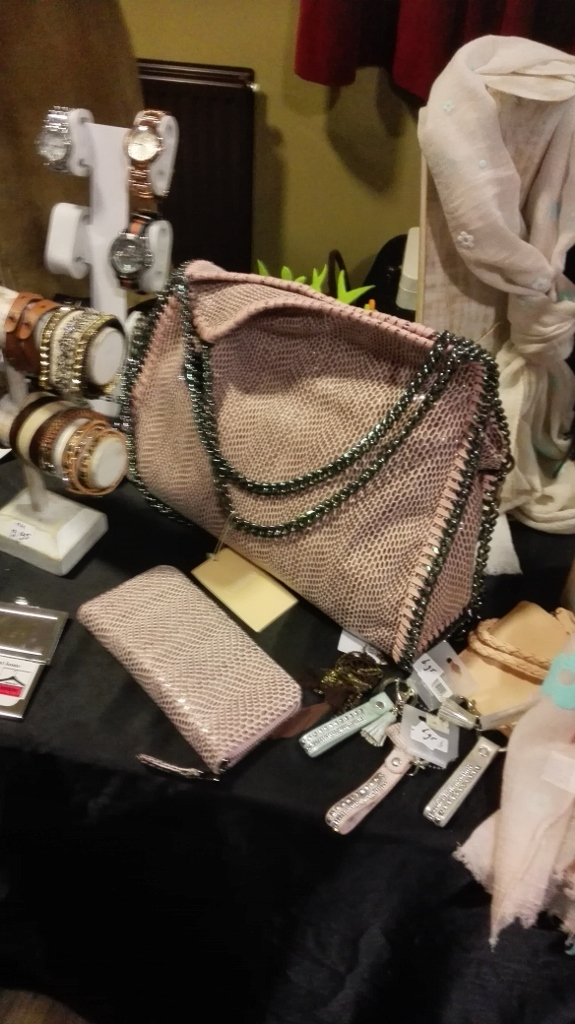 stall with bags