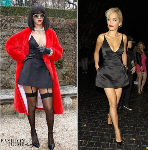 Rihanna-Rita-ora-dior-Little-black-dress