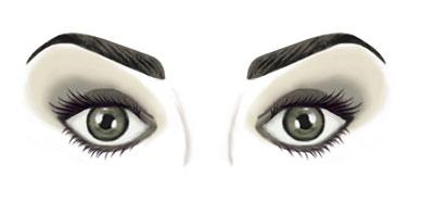 Protrudinge eyes