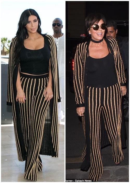 Celebrity Style Kris Jenner And Kim Kardashian In Balmain Fashionandstylepolice