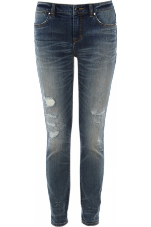 Womens-skinny-jeans-Karen-Millen-Ripped-and-frayed-skinny-jean