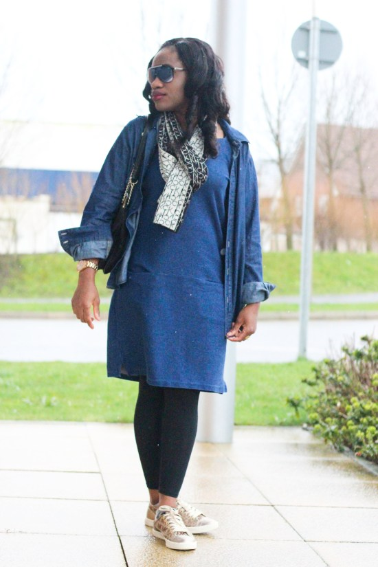 Fashion and Style Police OOTD Double Denim Image