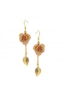 white-glazed-rose-earrings-24k-gold-leaf-style