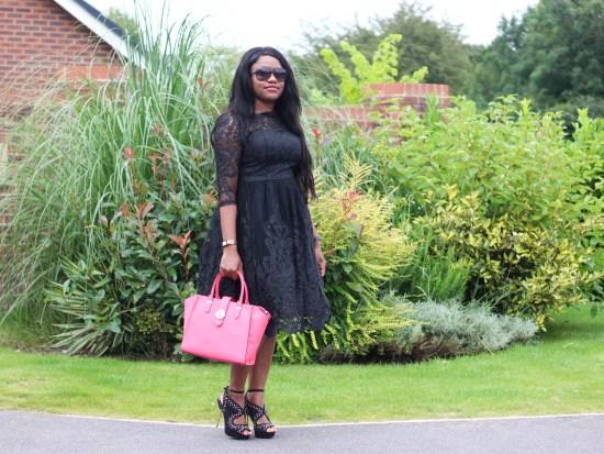 Black Lace Dress Picture