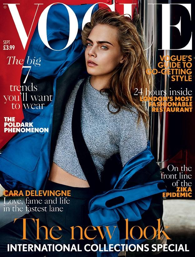 Cara Delevingne Covers British Vogue September 2016