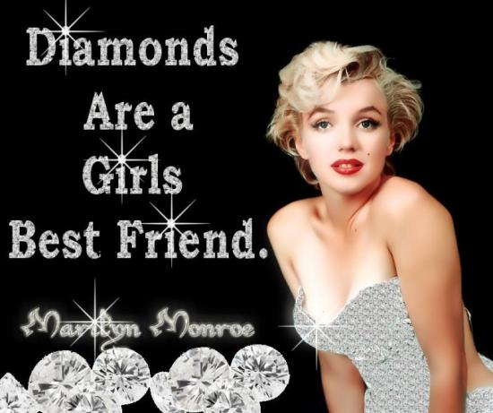 Diamonds are a girl's best friend image