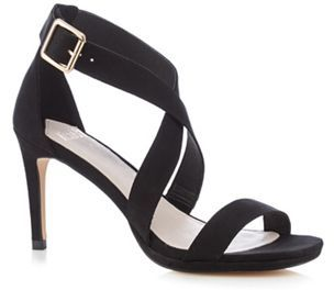 Faith Black 'Daisy' high crossover sandals Image