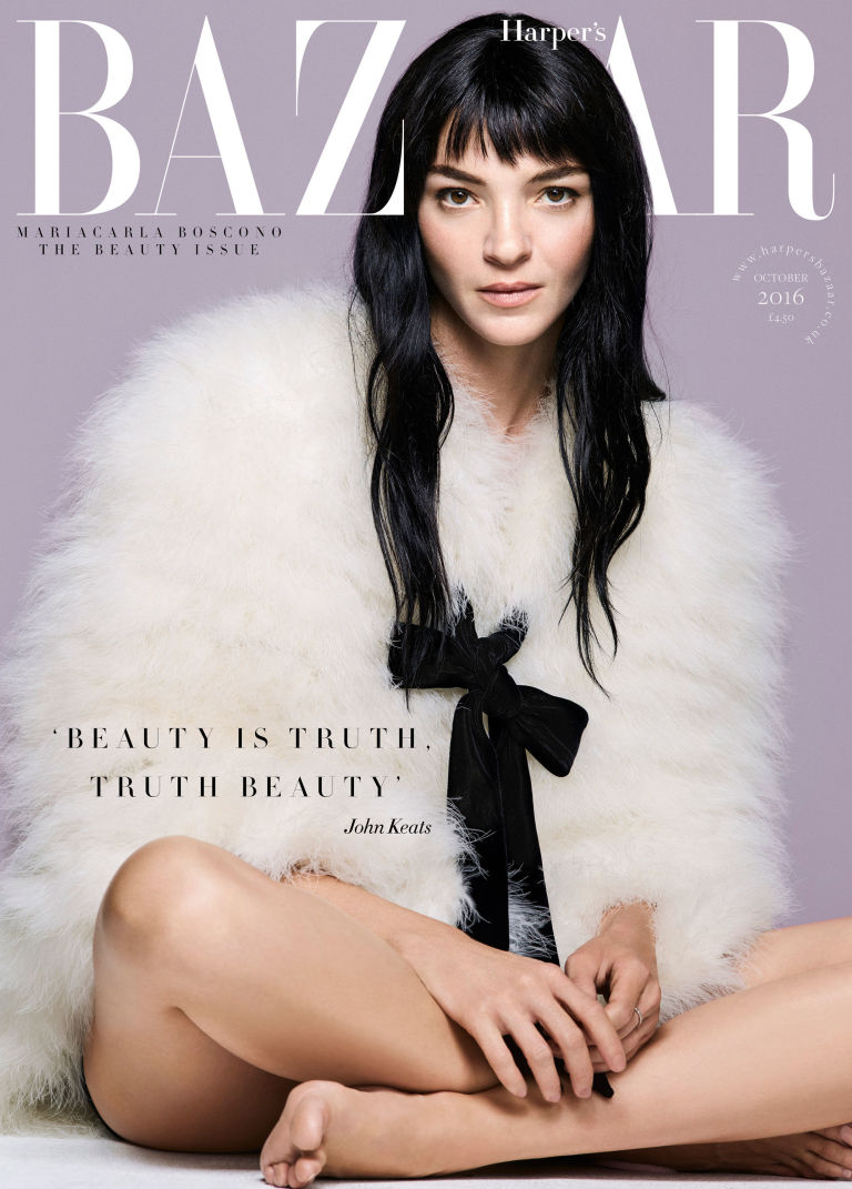 Mariacarla Boscono Covers Harper 39 S Bazaar Uk October 2016