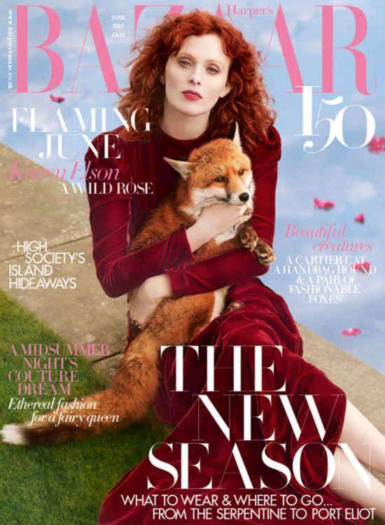 Karen Elson Harper's Bazaar Picture