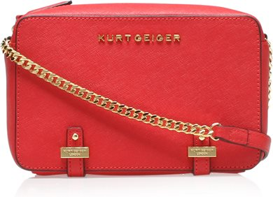 Kurt Geiger Saffiano Abbey Cross Body Bag Image