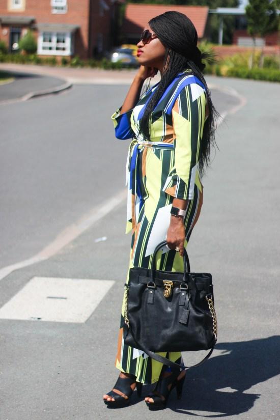 Blue Contrast Belted Jumpsuit - Bonnie Image
