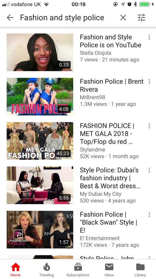 Fashion and Style Police YouTube Image