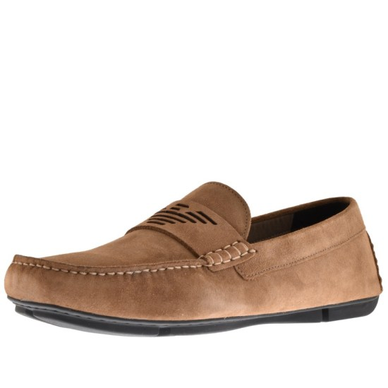 EMPORIO ARMANI DRIVER SHOES BROWN Mens Footwear Image