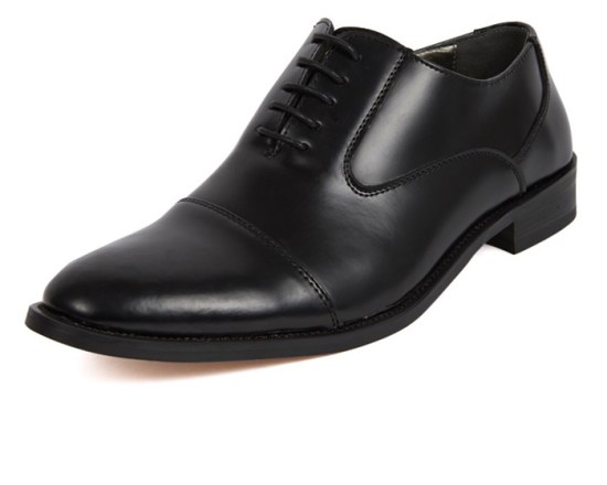 Dobell Black Leather Oxford Shoes image