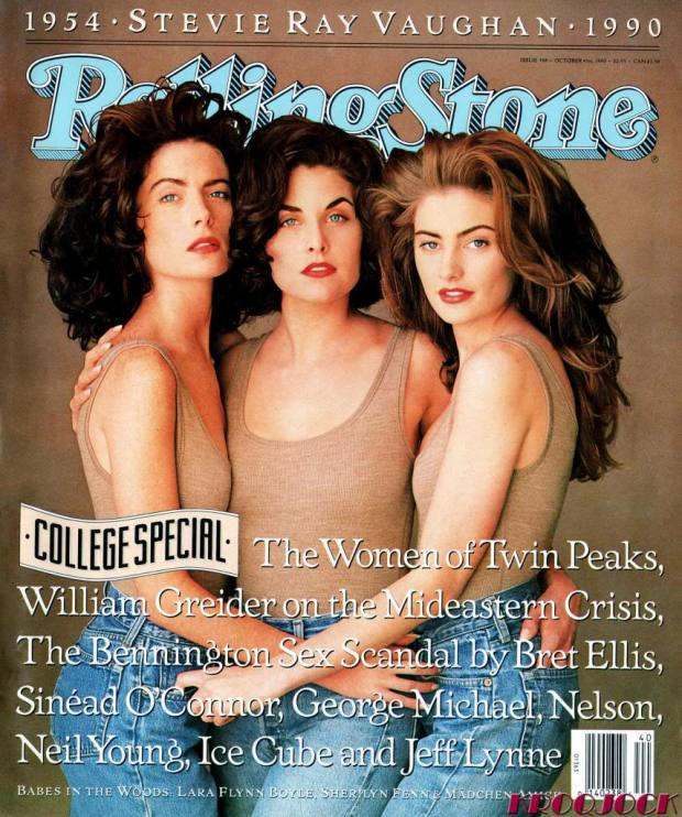 The heroines of Twin Peaks on the cover of Rolling Stone - October 1990