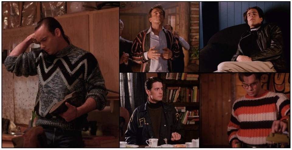 The men of Twin Peaks in their knitwear: stills from the series