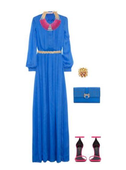 blue & fuschia
