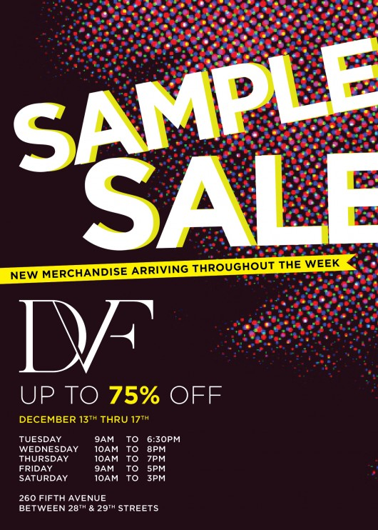 DVF - Sample Sale Invite