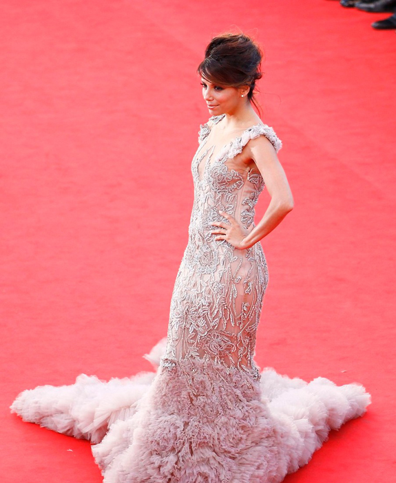 Eva Longoria  in a Marchesa Gown at the 65th Annual Cannes Film Festival