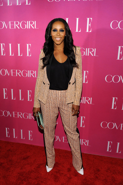 June-Ambrose-ELLES-Women-in-Music-Celebration-BCBG-Printed-Blazer-and-Trousers-Brian-Atwood-White-Pumps-and-Alexander-Wang-Tank