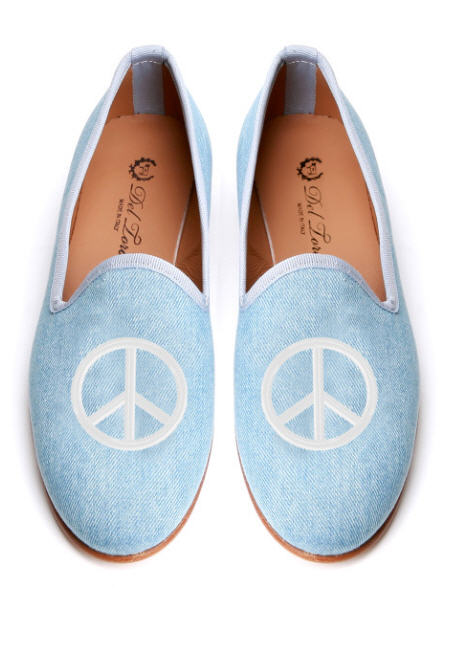 del-toro-fall-2013-prince-albert-denim-slipper-loafers-peace-sign-embroidery