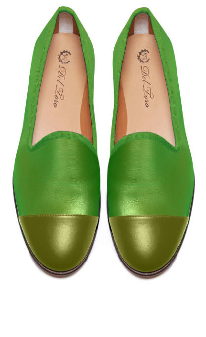 del-toro-fall-2013-prince-albert-lime-slipper-loafers-with-olive-cap-toes