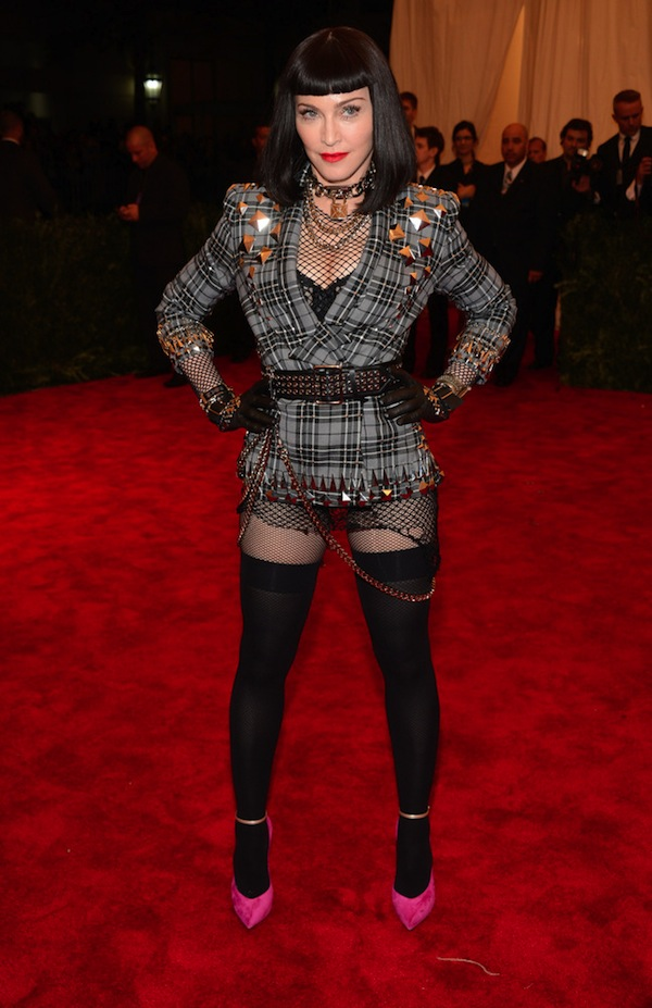 3 madonne givenchy Anne Hathaway 2013 met galal punk chaos to couture costume institute