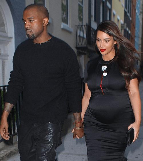 Kim-Kardashian-Kanye-West-NYC-Prada-Dress