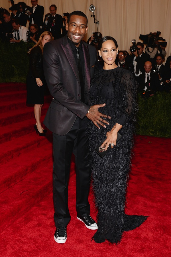 amare and alexis stoudemire met gala punk chaos to couture 2013 costume institute gala