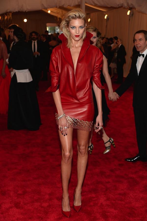anja rubik The 2013 Metropolitan Museum of Art Costume Institute Gala- Punk Chaos to Couture