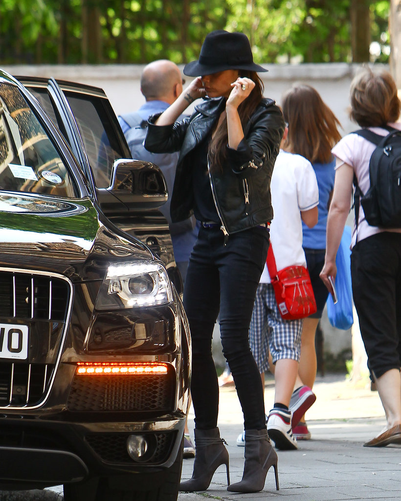 victoria-beckham-london-balenciaga-leather-jacket-maison-michel-trilby-velvet-hat-saint-laurent-paris-booties-2