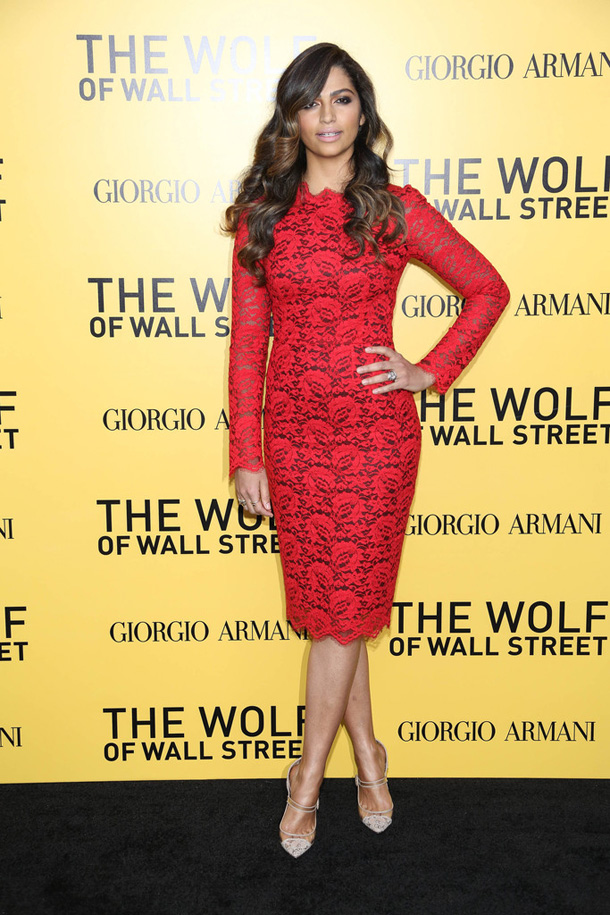 Camila-Alves-The-Wolf-of-Wall-Street-New-York-City-Premiere-Dolce-and-Gabbana-Red-Lace-Dress
