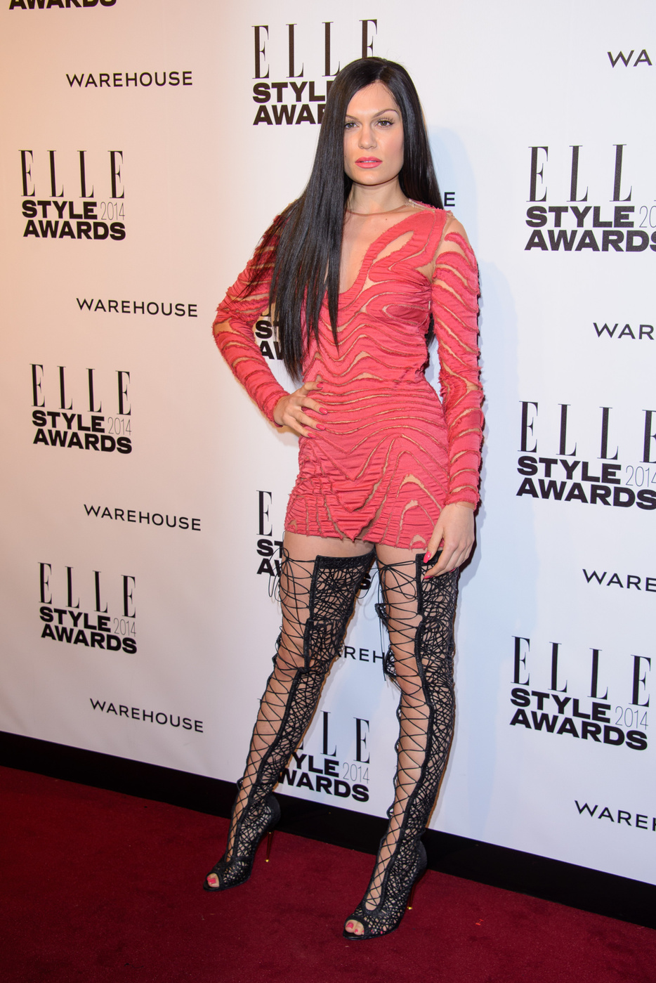 Jessie J attends  the Elle Style Awards 2014 at one Embankment in London