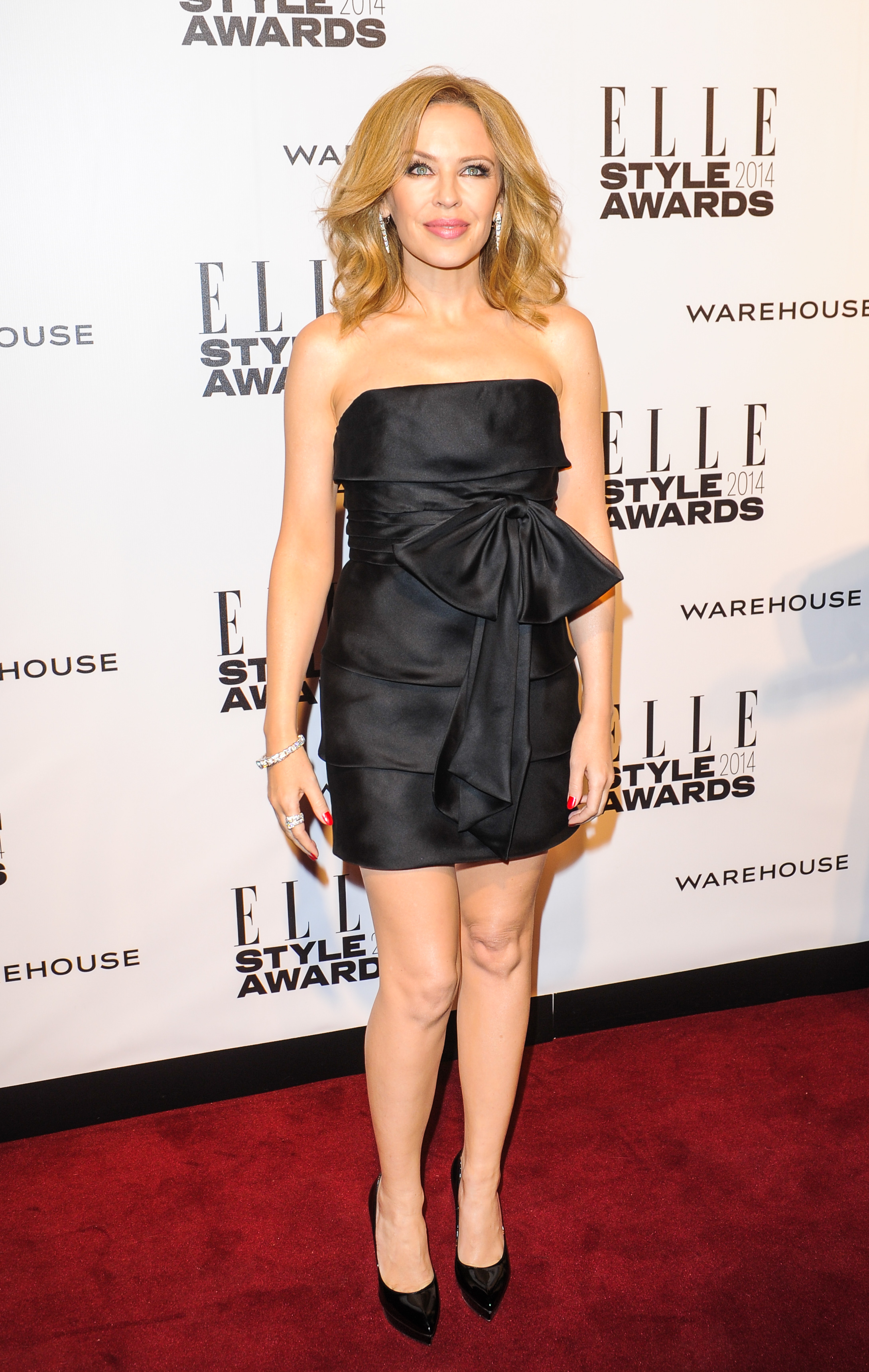 Kylie Minogue attends the Elle Style Awards 2014 **USA ONLY**