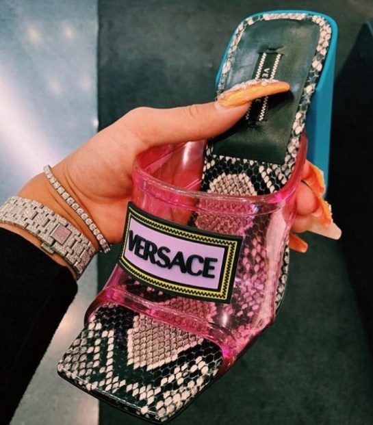 Bomb_Product_of_the_Day_Versace_Snakeskin_and_Vinyl_Mules