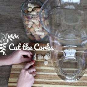 Easy Wine Corks DIY: Cutting Wine Corks