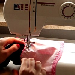 Sewing DIY Bell Sleeves on a Shirt