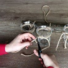 Decorative Ideas for Mason Jars: How to Make Hanging Jars with Twine
